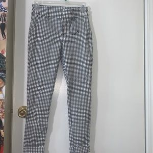 Black and white stripped formal pants